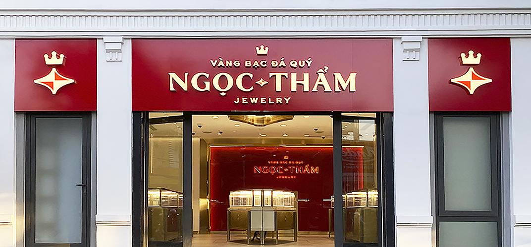 Mặt tiền cửa hàng NTJ Shophouse Cần Thơ