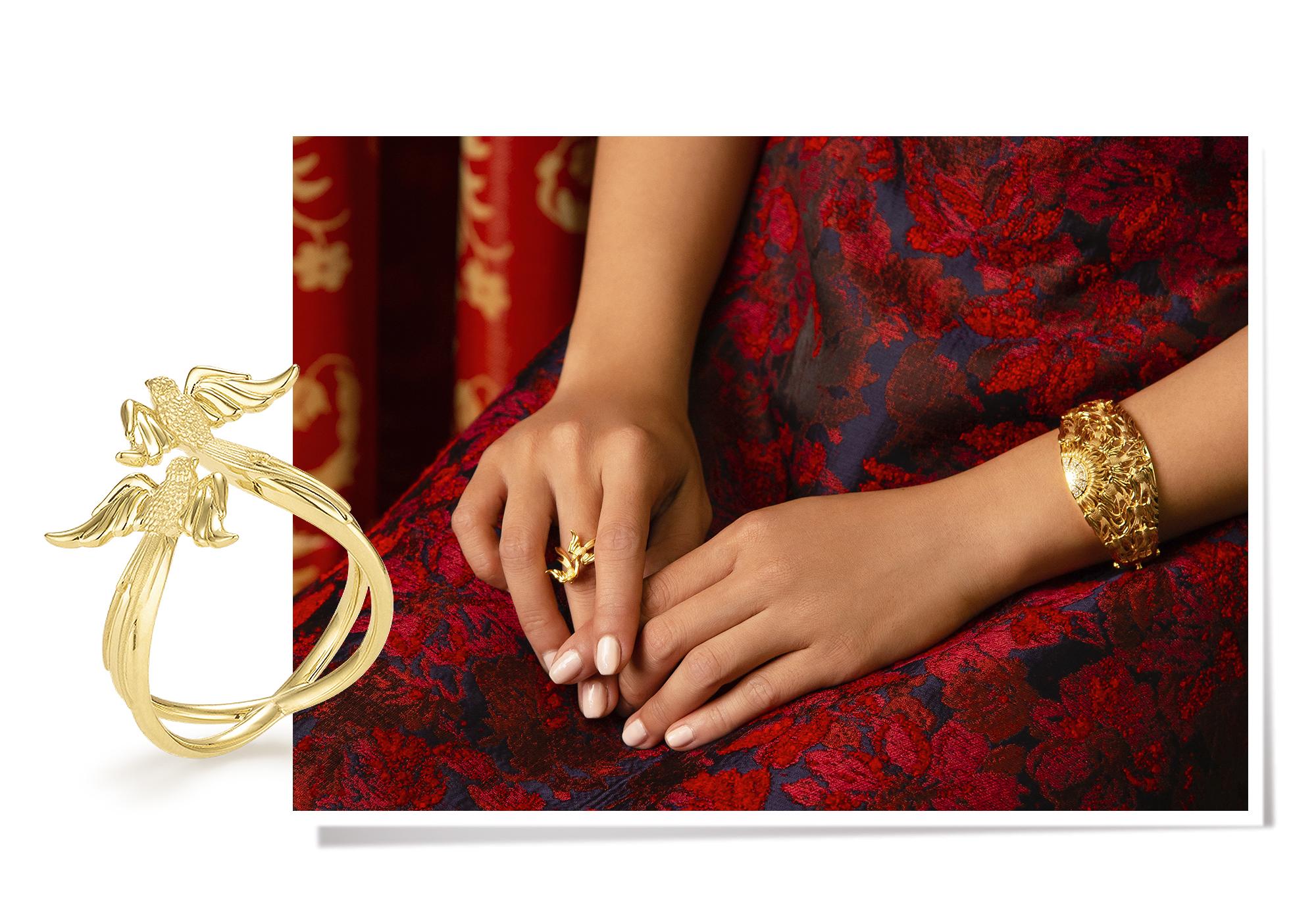 Bộ sưu tập Swallow kim cương, vàng 18K