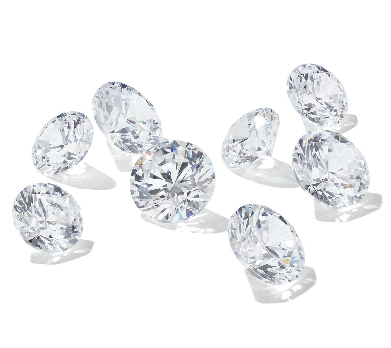 Các viên kim cương, đá quý