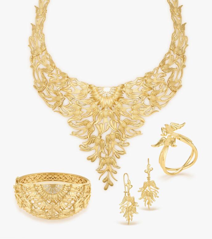 Bộ trang sức Kim cương Vàng 18K DXDB284