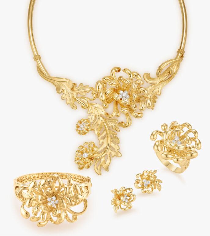 Bộ trang sức Kim cương Vàng 18K DXDB286