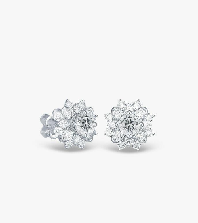 Bông tai Kim cương Vàng trắng DXB392HK-1