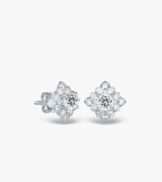 Bông tai Kim cương Vàng trắng DXB579HK