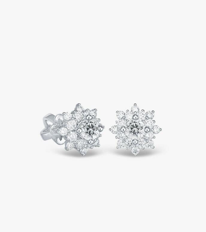 Bông tai Kim cương Vàng trắng DXB612-1
