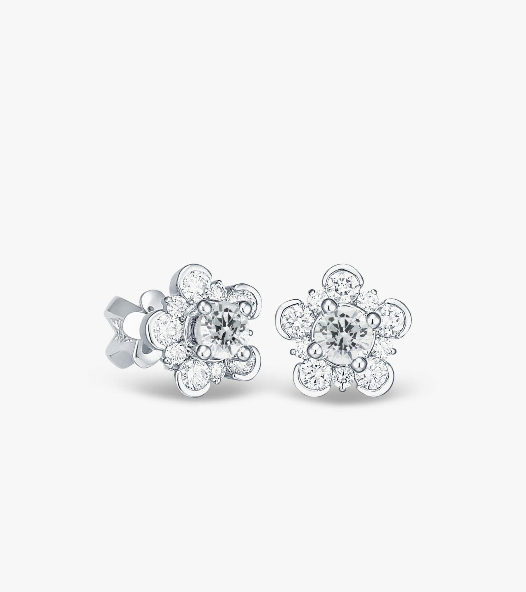 Bông tai Kim cương Vàng trắng DXB615-1