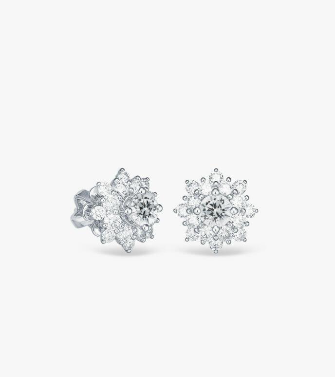 Bông tai Kim cương Vàng trắng DXDB205B