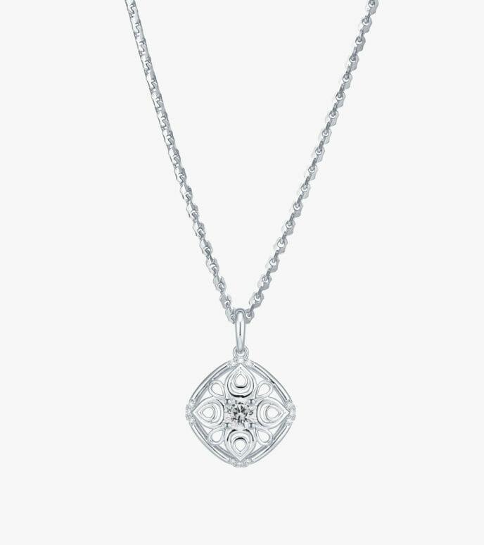 Mặt dây chuyền Kim cương Vàng trắng DXM368