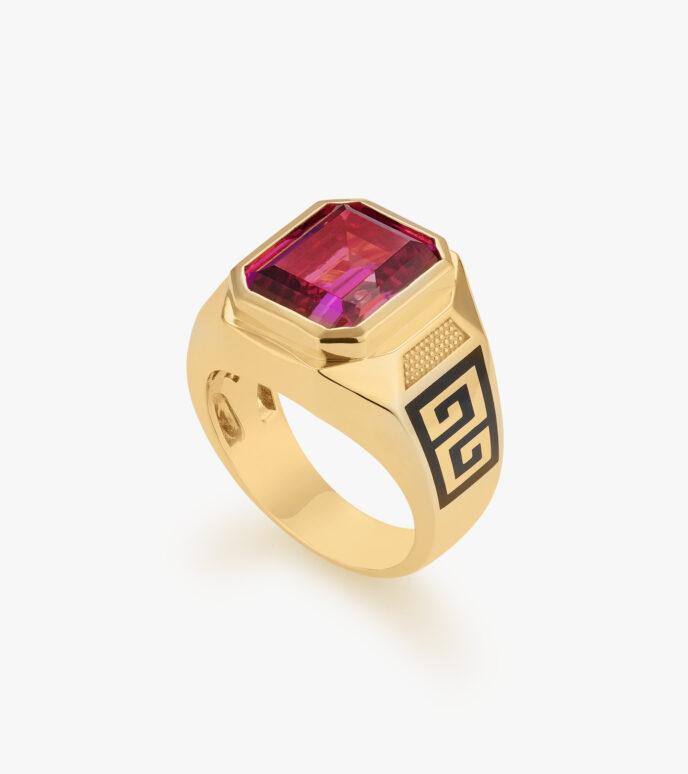 Nhẫn nam Đá màu Swarovski Vàng 18K CSN1966HM