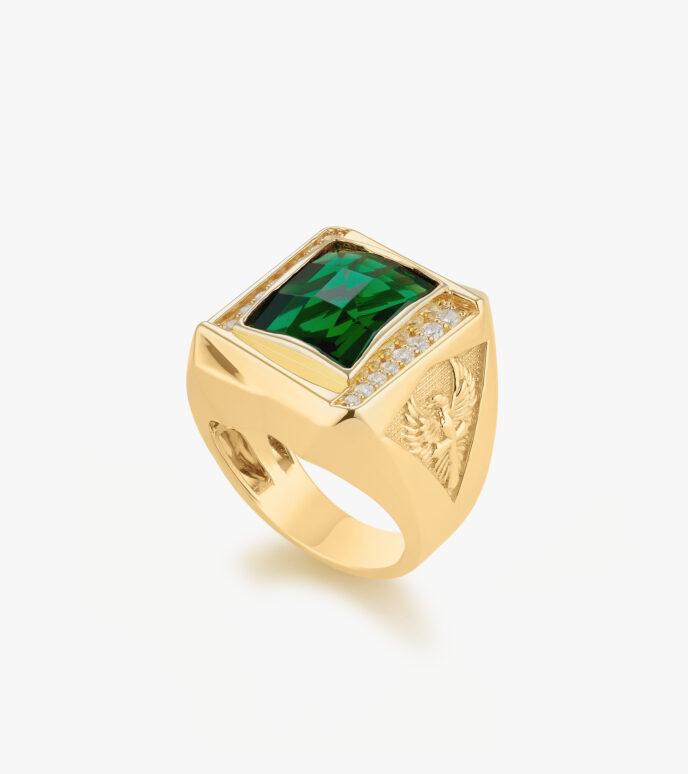 Nhẫn nam Đá màu tổng hợp Vàng 18K CSN2192
