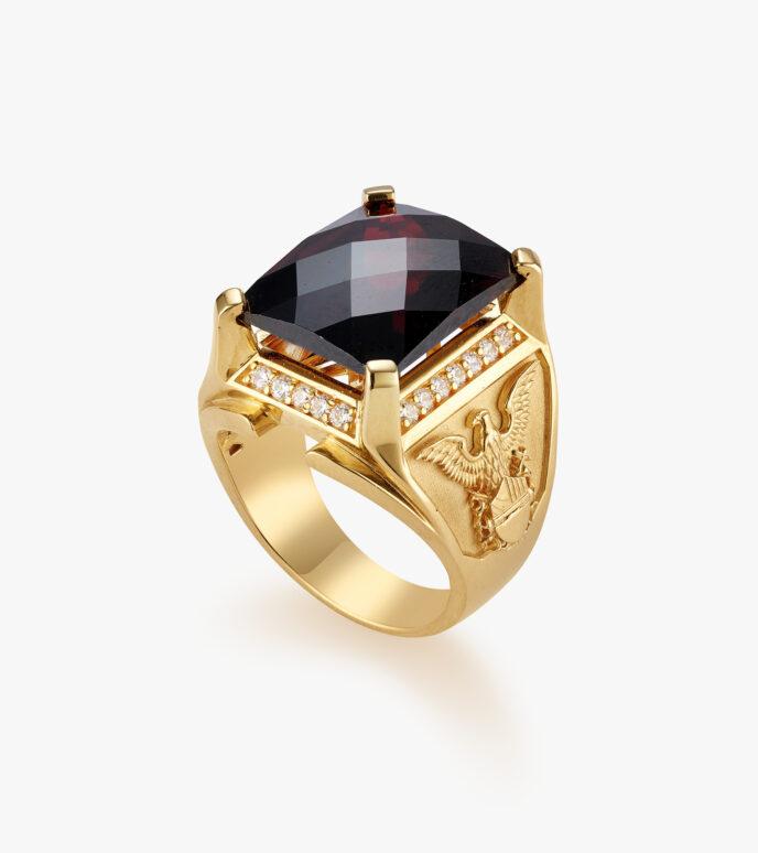Nhẫn nam Đá màu tổng hợp Vàng 18K GSN1555