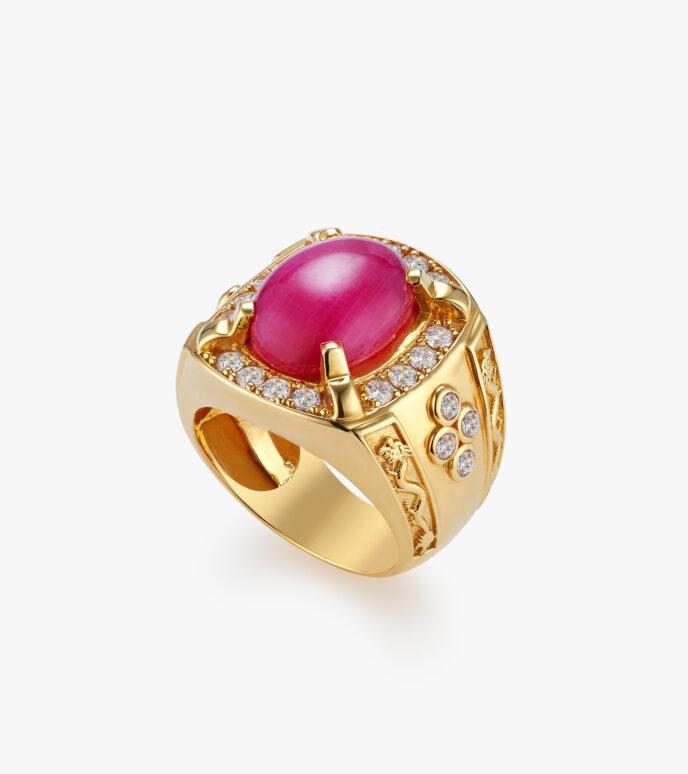Nhẫn nam Đá màu tổng hợp Vàng 18K GSN1557