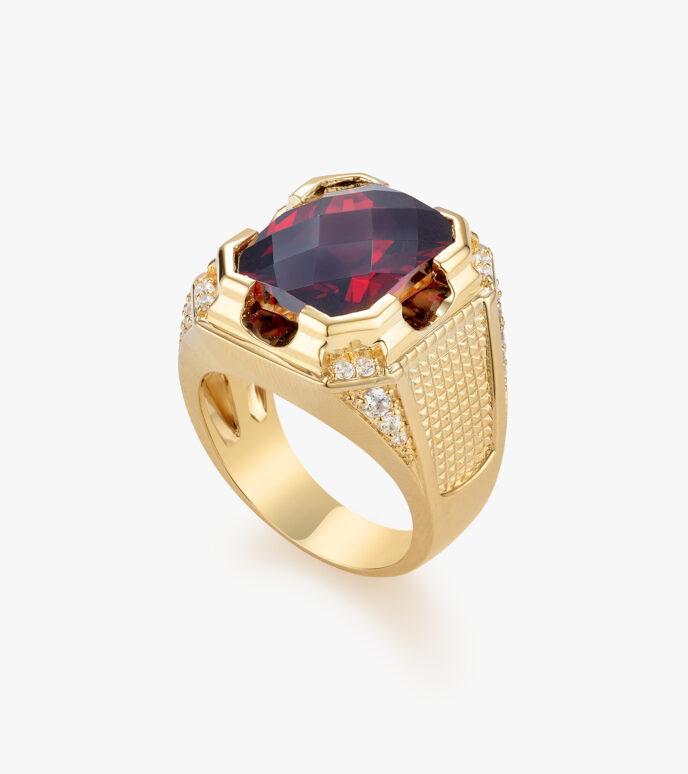 Nhẫn nam Đá màu tổng hợp Vàng 18K GSN176A