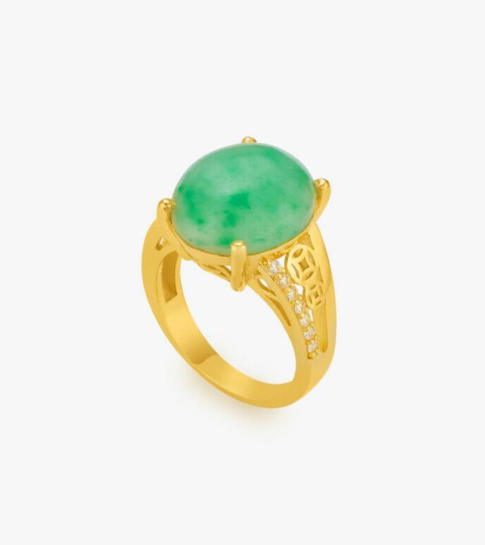 Nhẫn nữ Cẩm thạch Vàng 24K WKDB296N