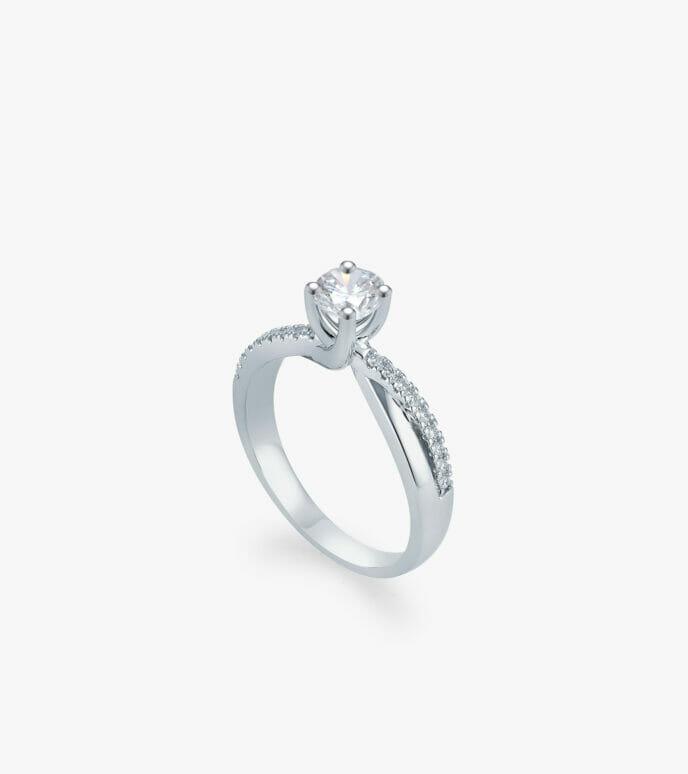 Nhẫn nữ Kim cương Vàng trắng DXN239A