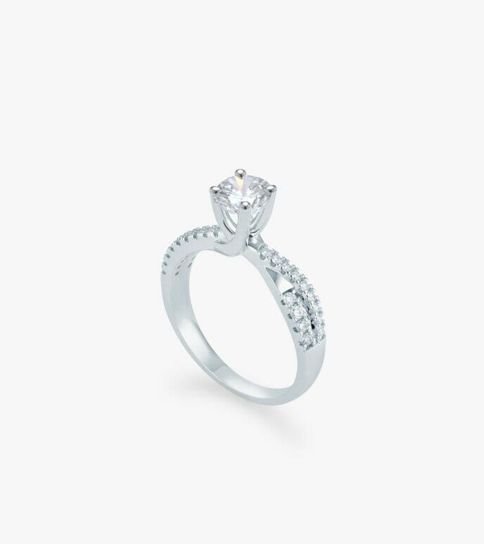 Nhẫn nữ Kim cương Vàng trắng DXN239C