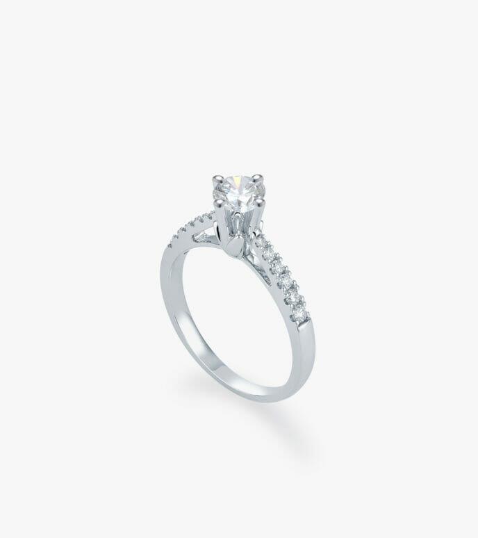 Nhẫn nữ Kim cương Vàng trắng DXN262