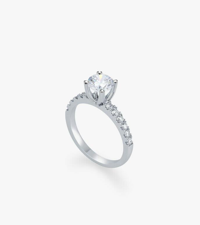 Nhẫn nữ Kim cương Vàng trắng DXN626