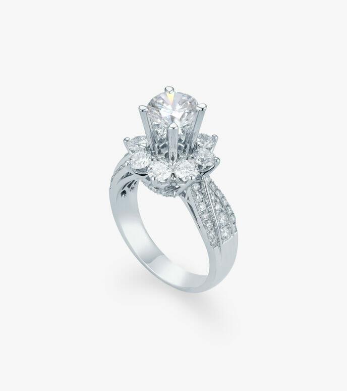 Nhẫn nữ Kim cương Vàng trắng DXN629HK