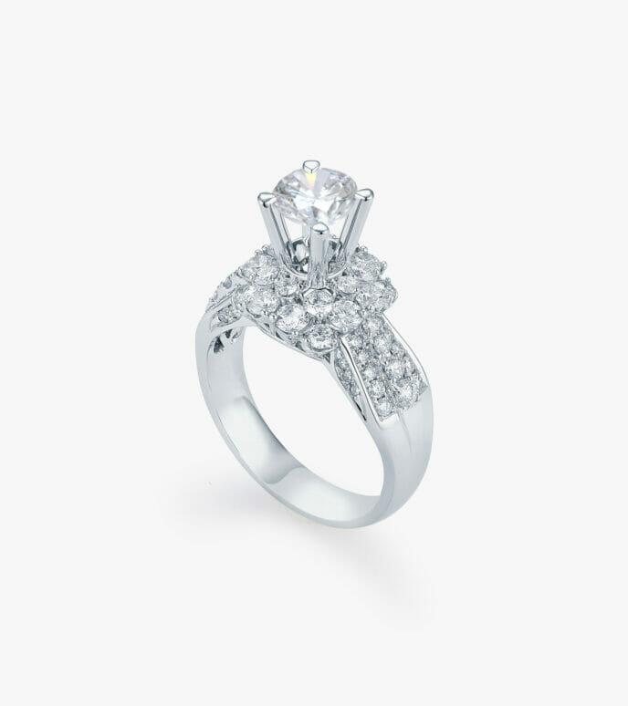 Nhẫn nữ Kim cương Vàng trắng DXN633HK