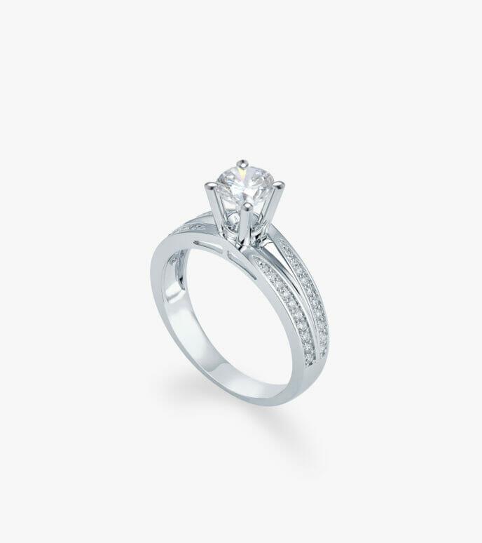 Nhẫn nữ Kim cương Vàng trắng DXN721
