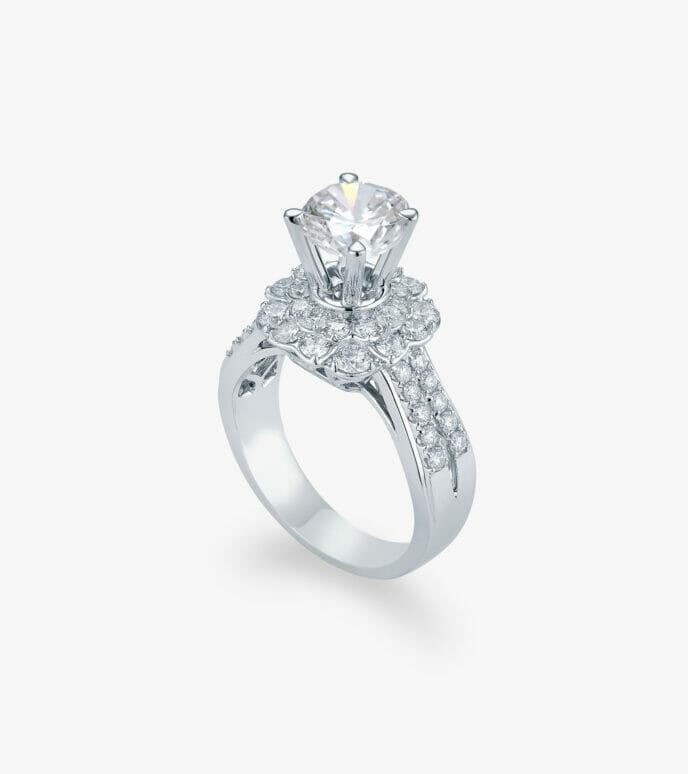 Nhẫn nữ Kim cương Vàng trắng DXN725HK