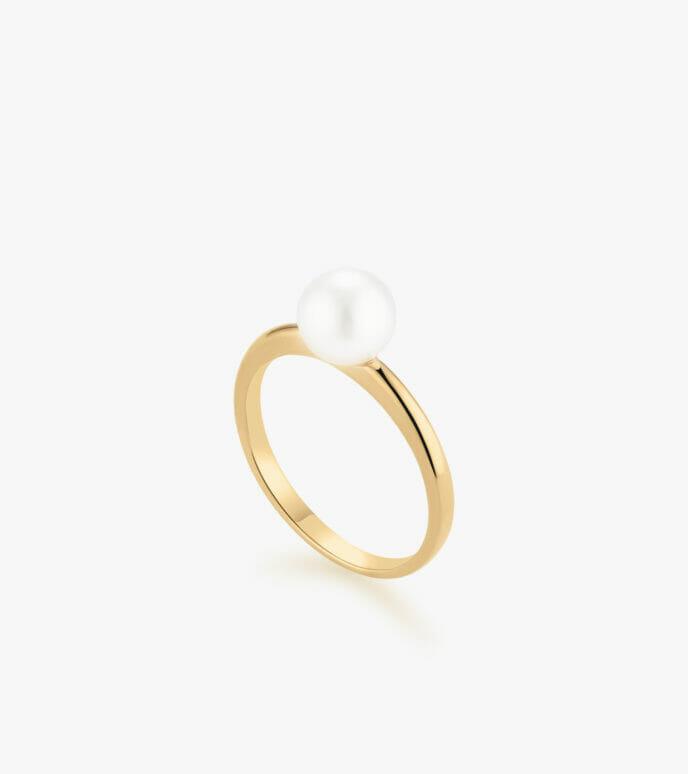 Nhẫn nữ Ngọc trai Vàng 18K CSN1747