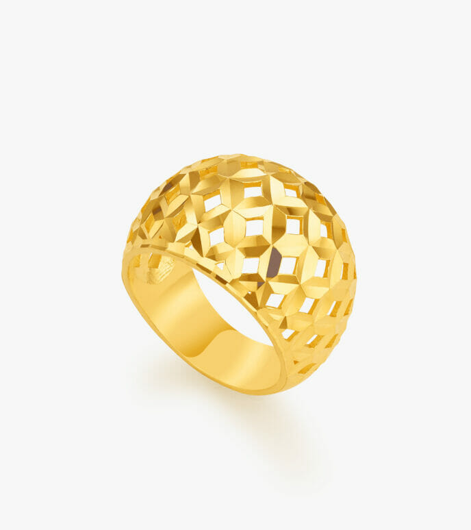 Nhẫn nữ Vàng 24K CKSN895-2