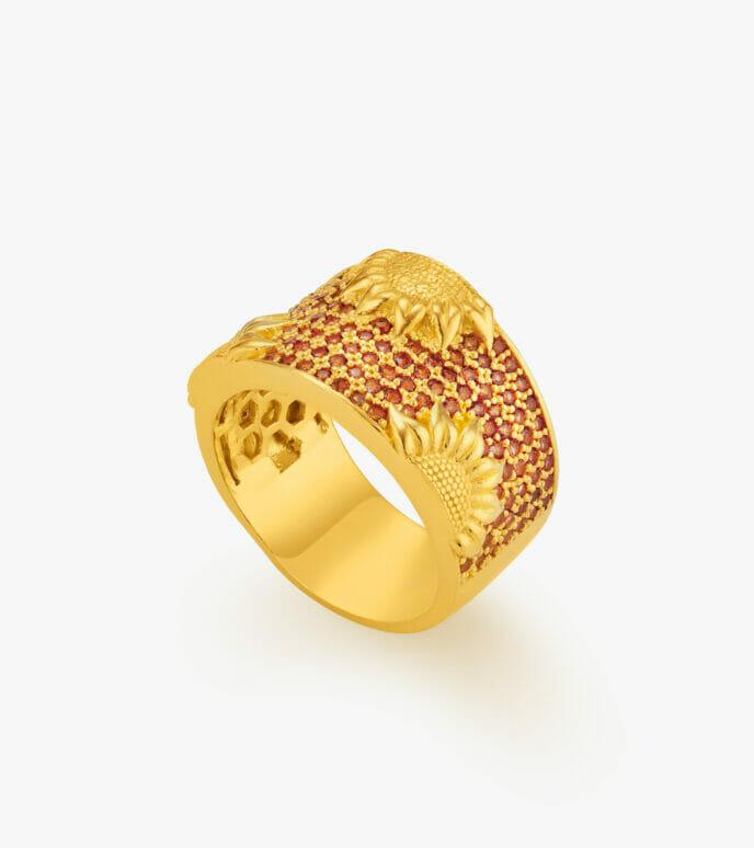 Nhẫn nữ Vàng 24K WKDB301N-1