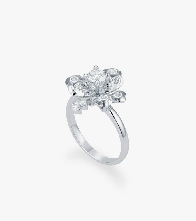 Nhẫn nữ Vàng trắng CSDB945N