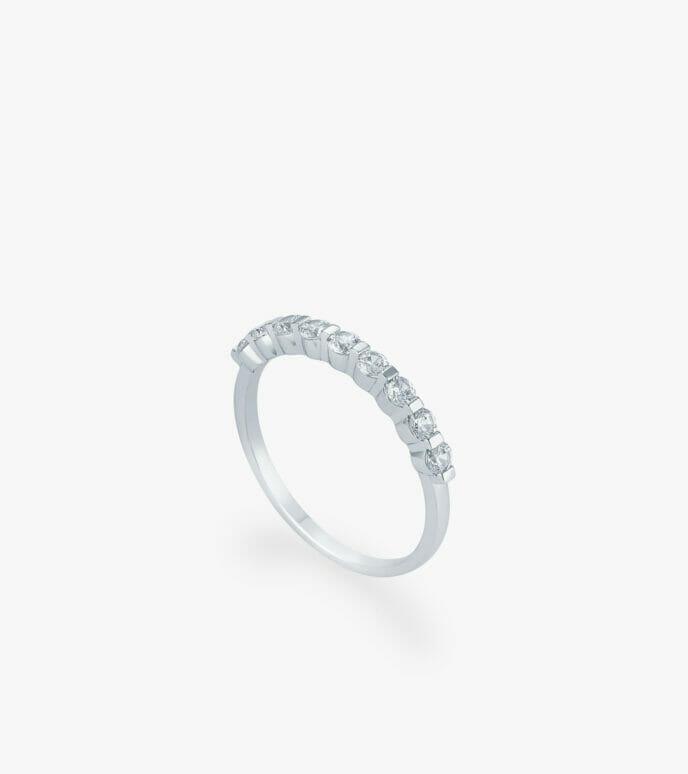 Nhẫn nữ Vàng trắng CSN1147