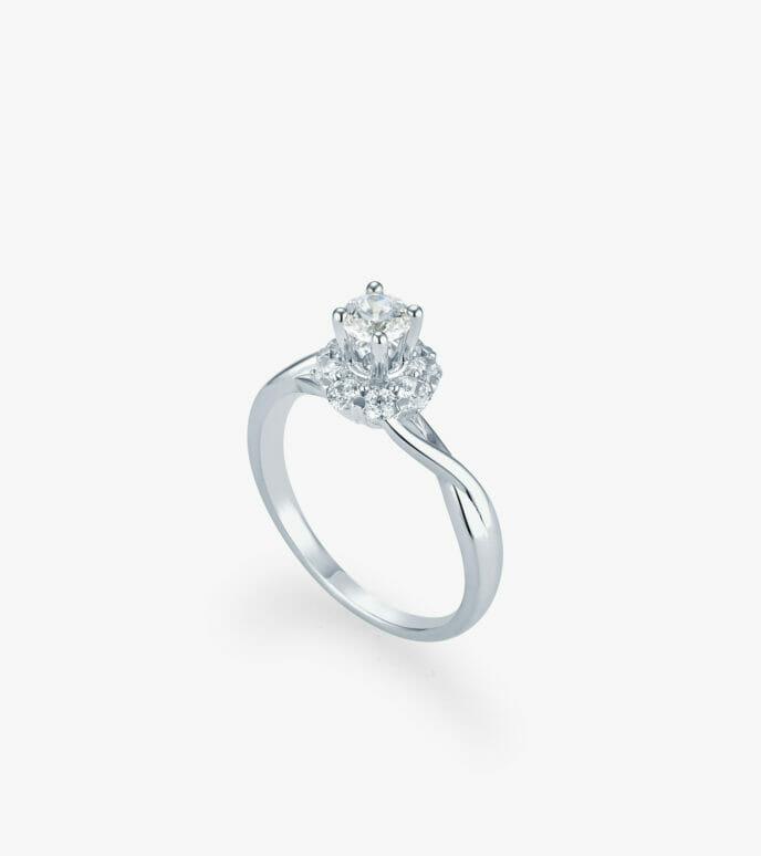 Nhẫn nữ Vàng trắng CSN1953-1