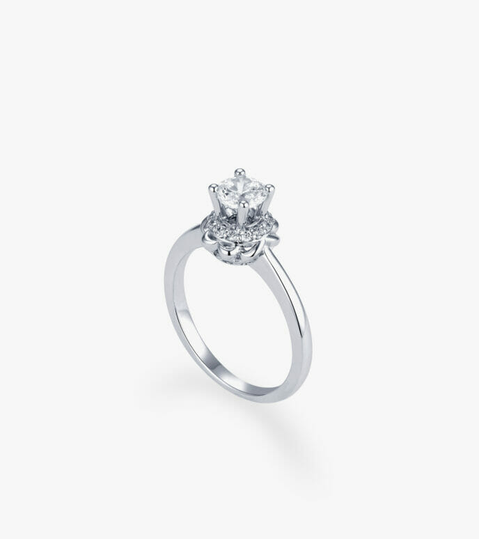 Nhẫn nữ Vàng trắng CSN2235