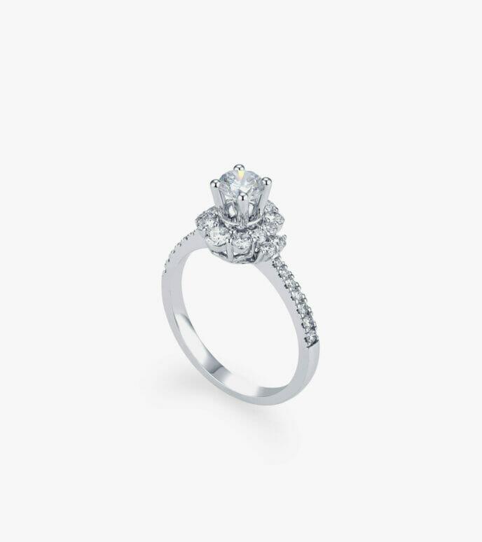 Nhẫn nữ Kim cương Vàng trắng DXDB242N