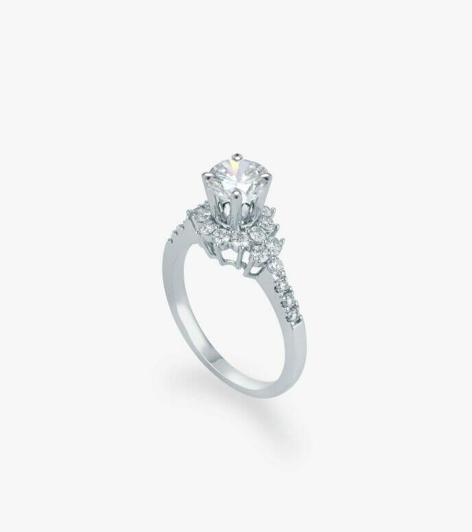 Nhẫn nữ Kim cương Vàng trắng DXDB294N