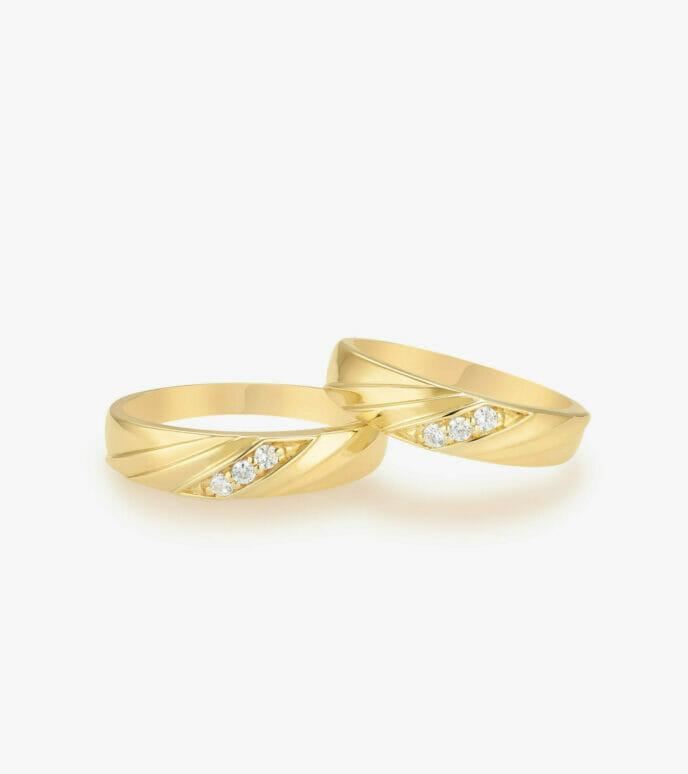 Nhẫn cưới Vàng 18K WSN1331-1