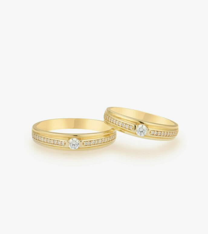 Nhẫn cưới Vàng 18K WSN1334
