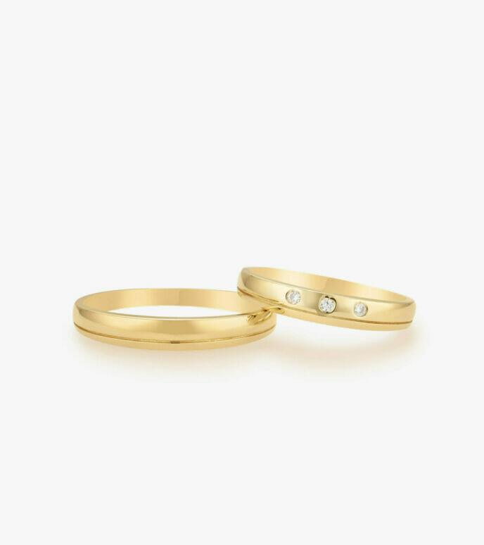 Nhẫn cưới Vàng 18K WSN1988