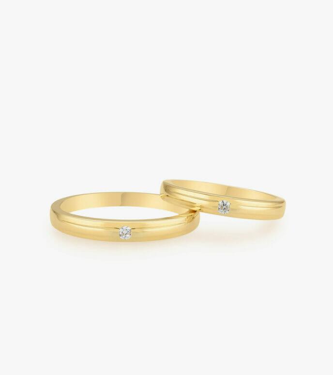 Nhẫn cưới Vàng 18K WSN2098-1