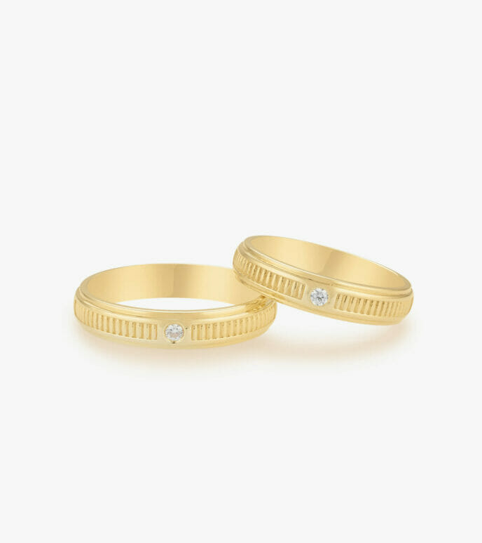Nhẫn cưới Vàng 18K WSN2227