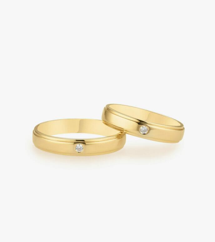 Nhẫn cưới Vàng 18K WSN308-1