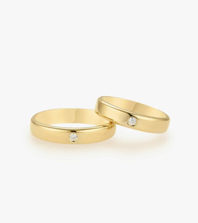 Nhẫn cưới Vàng 18K WSN310-1