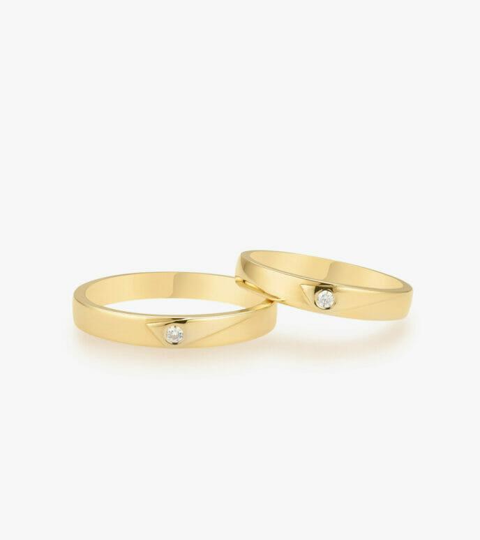 Nhẫn cưới Vàng 18K WSN318