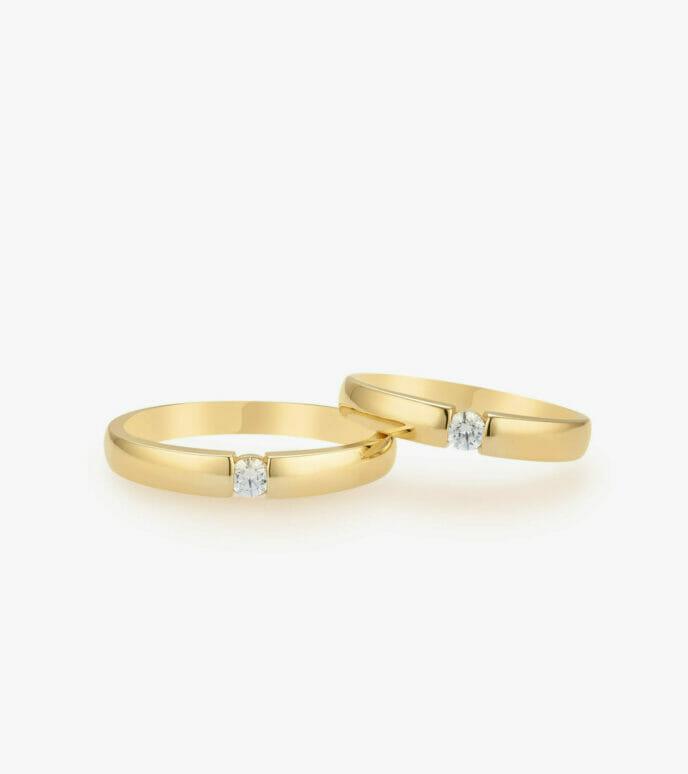 Nhẫn cưới Vàng 18K WSN319-1