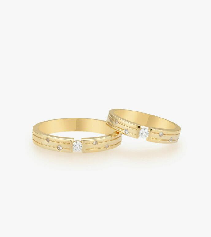 Nhẫn cưới Vàng 18K WSN321-1