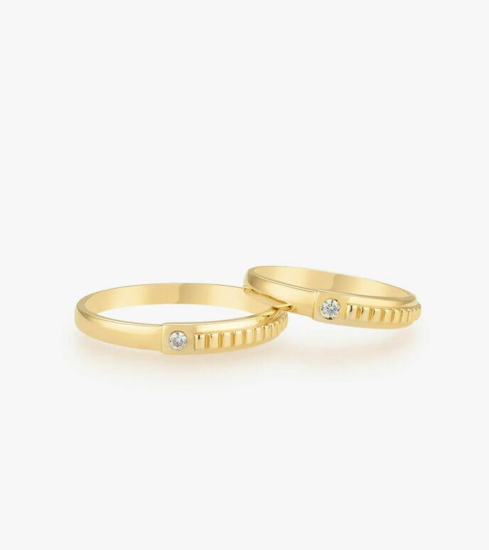 Nhẫn cưới Vàng 18K WSN323-1