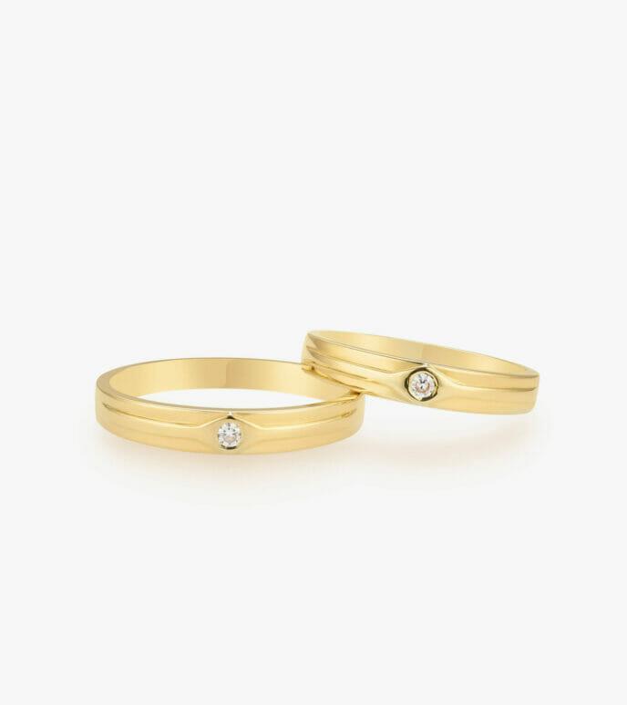 Nhẫn cưới Vàng 18K WSN326-2
