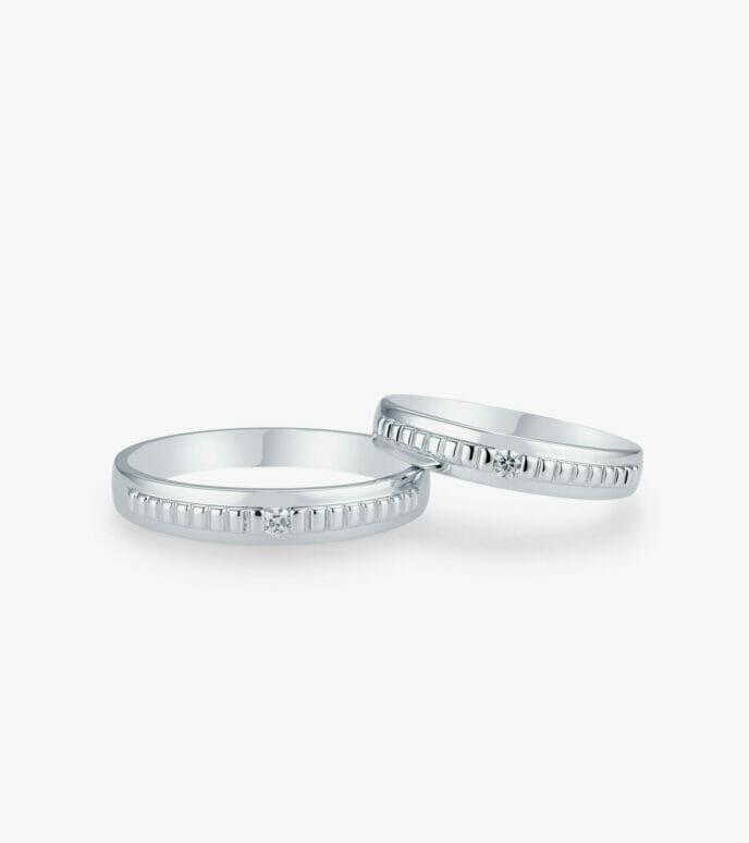 Nhẫn cưới Vàng trắng WSN2230