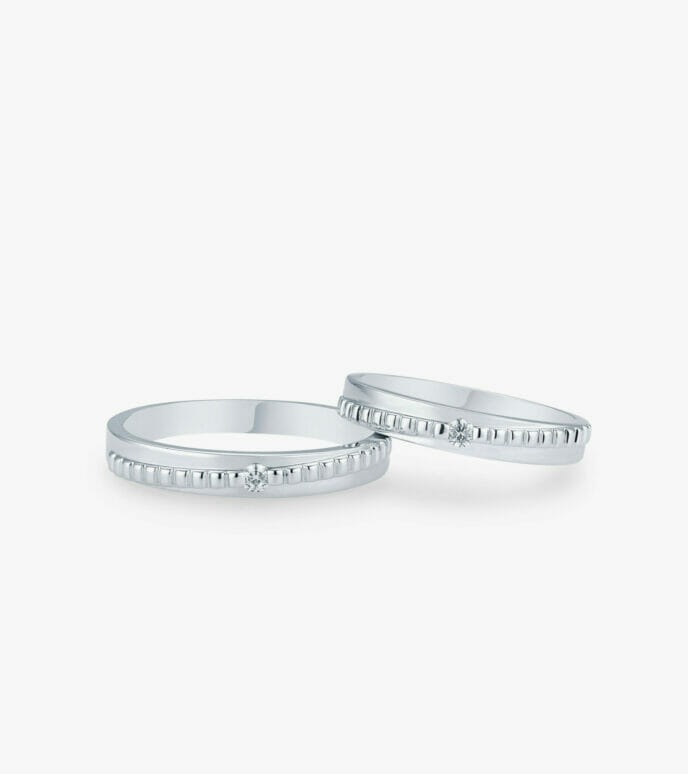 Nhẫn cưới Vàng trắng WSN2232